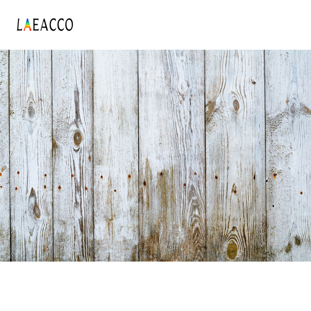 Laeacco Gray White Planks Wooden Boards Peeled Pet Doll Portrait Photographic Backdrops Photo Backgrounds Photocall Photo Studio