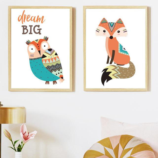 Forest Animals 1 – Wall Art Canvas for Kids Room
