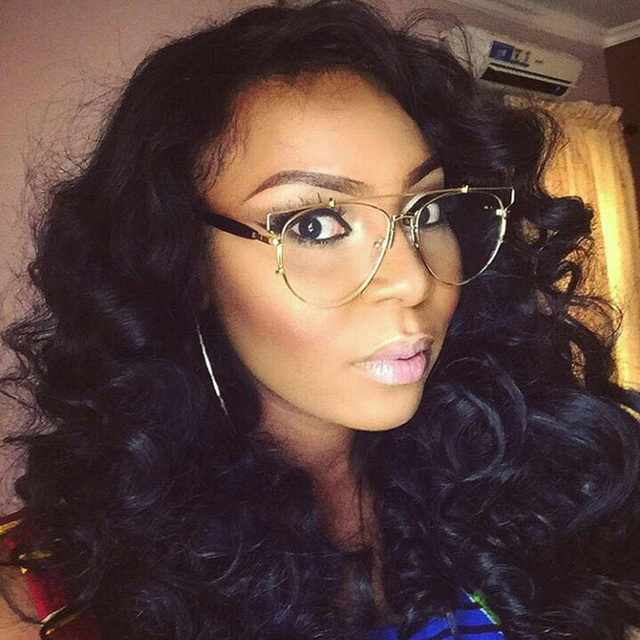bb5c8a5d49 ROYAL GIRL Vintage Eyeglasses frames Clear lens glasses Women eyeglasses  metal spectacle ss094