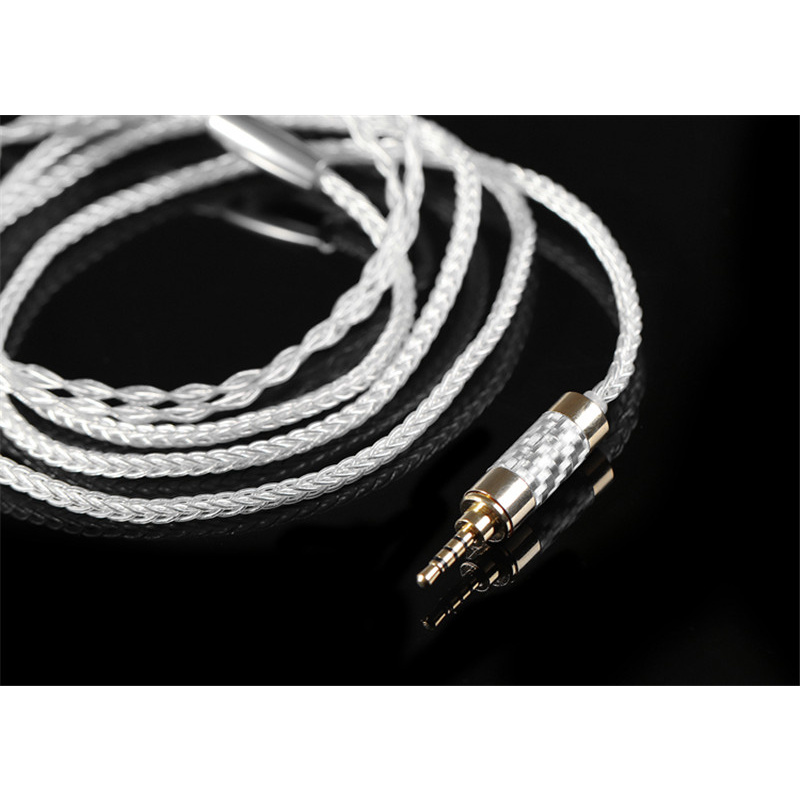 BGVP 3.5mm Earphone Cable MMCX 5N 8Core 160 Wire 5N OCC Silver Plated Headphone Cable for Shure for UE for SONY
