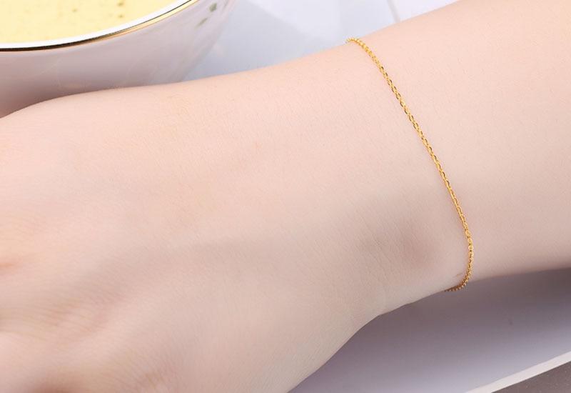 18k Au750 gold chain bracelet (12)