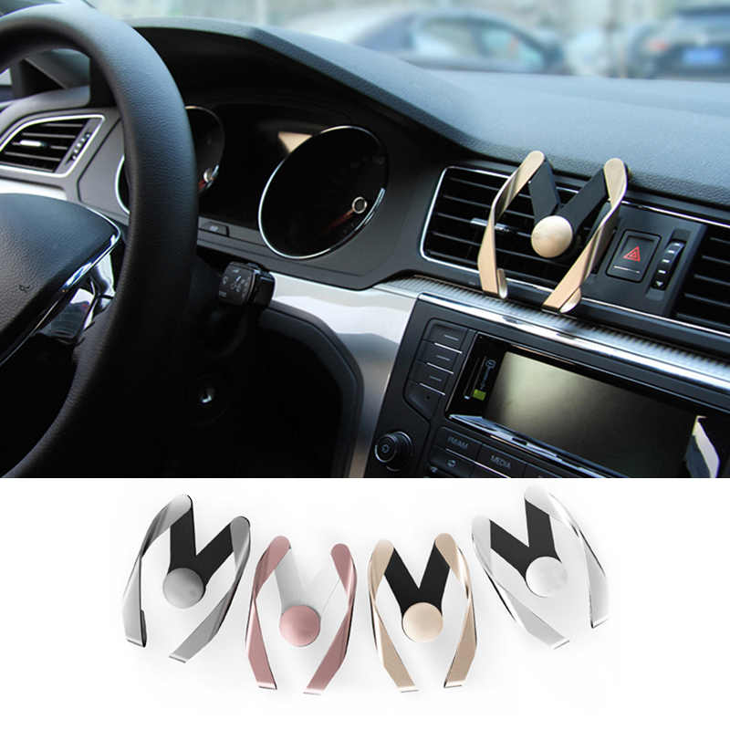 For BMW Mercedes for audi Volkswagen vw Polo passat Golf for Solaris ford focus chevrolet cruze car Phone Air Vent Stand Mount 4pcs set smoke sun rain visor vent window deflector shield guard shade for vw volkswagen passat b8 2015 2016 2017