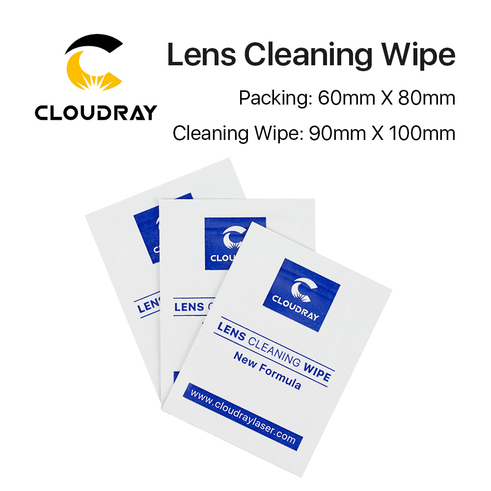 Lens Cleaning Wipes For 10.6um CO2 And 1064nm Fiber Laser Lenses Mirror 10 Pcs Pack