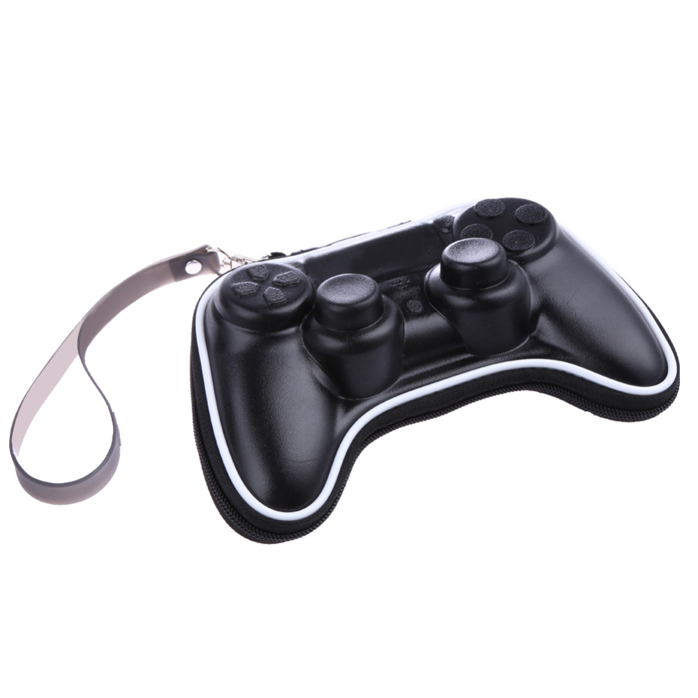 Portable Gamepad Game Controller Storage Case Hard Mini Joystick Carrying Cover Bag Geniuin Leather for Sony PlayStation 4 PS4