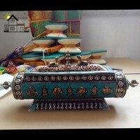 Непал приглашает сокровищницы, Латунь инкрустация восемь сокровища бутылки, подарочные украшения.