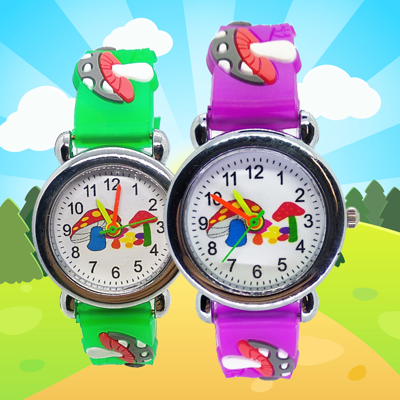 Wholesale Hot Boys And Girls Clock Cartoon Children Watch Mushroom Sports Quartz Primary School Students Watches For Kids Gift