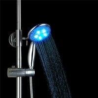 Epak Bath Showering 3 Color Change LED Shower Head Romantic Light Water Bathroom Waterfall Shower Bath