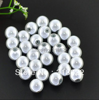 Wholesale 6 8 10 12 14 16mm White Mircale Beads Plastic Chunky Beads Acrylic Gumball Bead