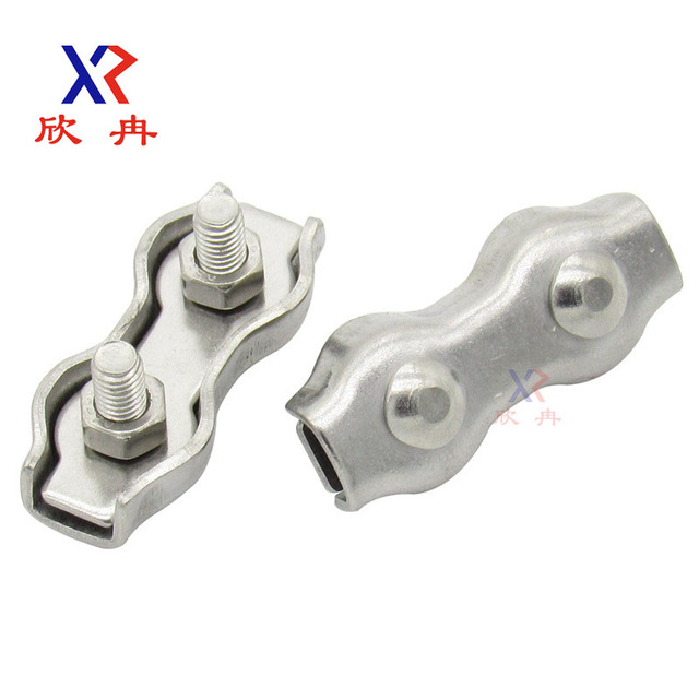 Stainless steel wire rope clamp double chuck