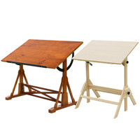 描画テーブルアーティストスケッチイーゼルリフティング調節可能な油絵デスク木製アートプロの描画テーブル塗装用品