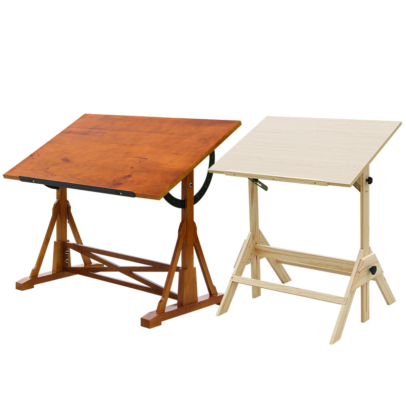 Drawing Table Artist Sketching Easel Lifting Adjustable Oil Painting Desk Wood Art Professional Drawing Table Paint Supplies