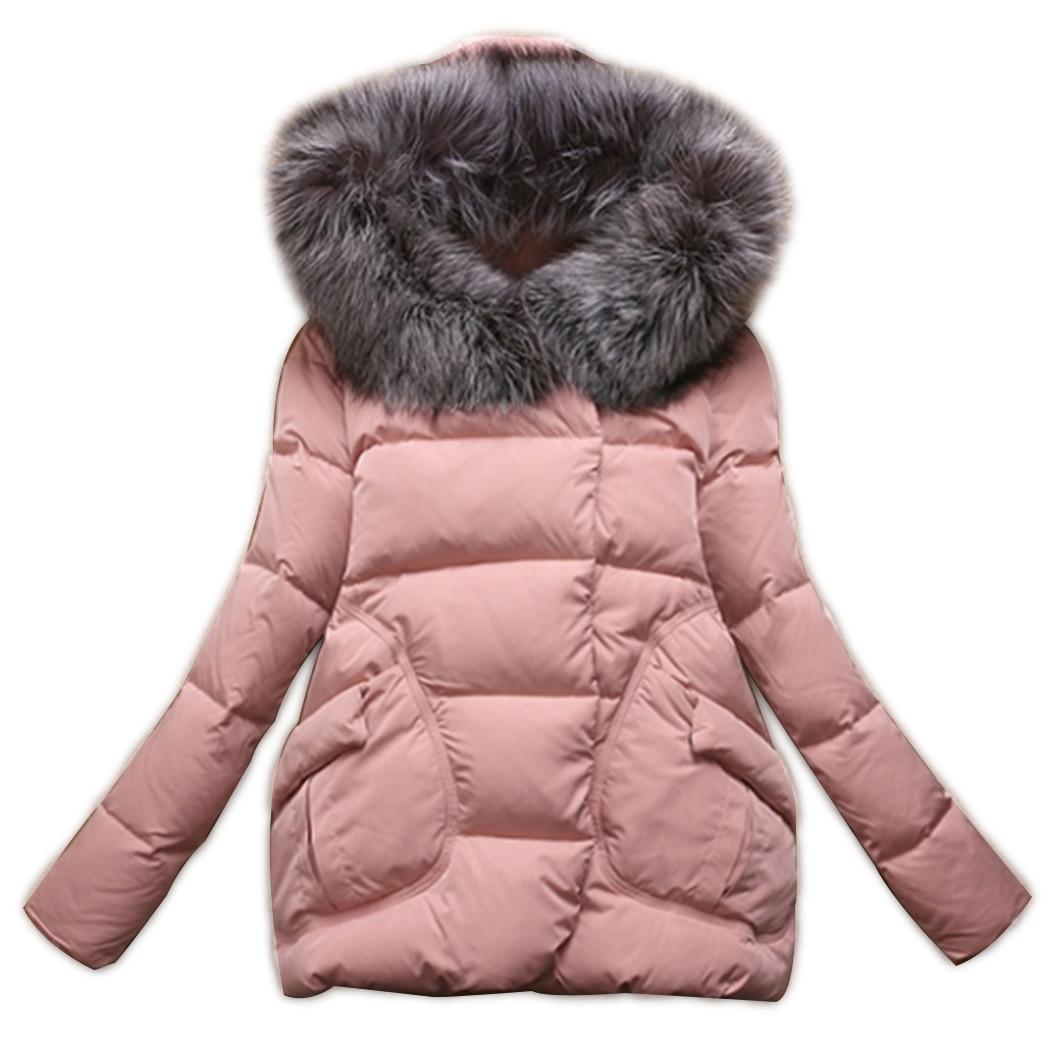 2018 Hiver Coton Ouatée Turquoise Long Veste pink À Automne Manteau Mince pantone Q4 De Femmes Black Rembourré Femelle Capuchon Col Parkas Fourrure red Survêtement Prq5wxtPg
