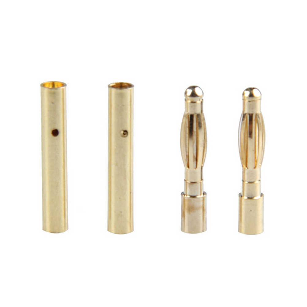Вилка штекерного типа медь бесщеточный двигатель мм 2 мм золото Пуля разъем покрытием для ESC батарея 10 пара/лот