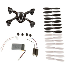 Pro Rc Helicopter Upgrade Spare Part For Hubsan X4 H107l Body Shell Rubber Feet Spare Blade