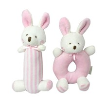 Toddler Baby Toys Rabbit Cartoon Bear Plush Rattle Bell Ring Newborn Hand Hold Mobile Cradle Soft Y13