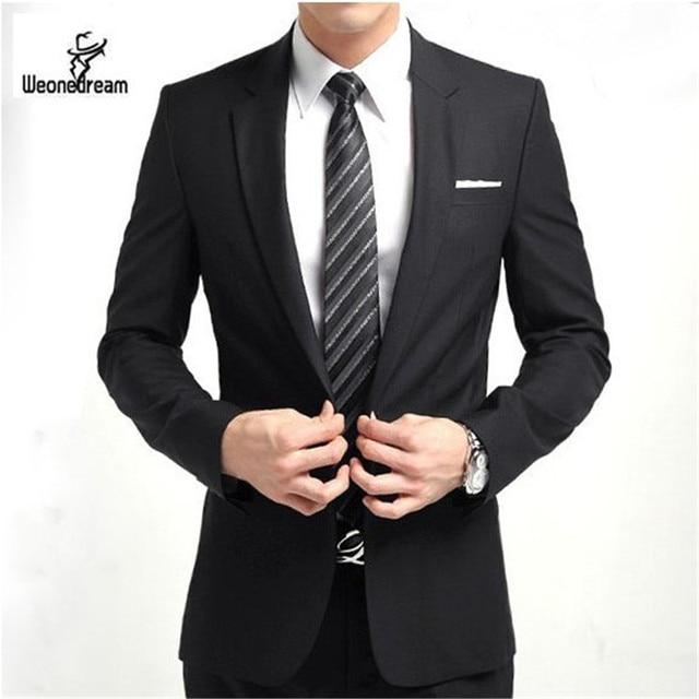 2017 New Arrival Fashion Brand Men Slim Fit Suits Man Business ...