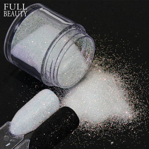Image 1 - 1 bottle Black White Shinning Dazzling Nail Glitter Powder Gel Polish Holographic Pigment Nail Art Dust Manicure Decor CH26/48 1