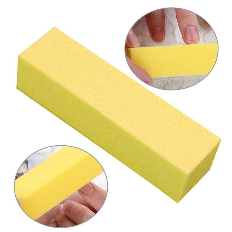 2018 bloques de Tofu creativos tiras pulidas en todos los lados lima de uñas pulida 6 colores buena calidad resistente al desgaste manicura molino