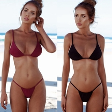 9 Colors Brazilian Bikini Tanga Plus Size Swimwear Women Swimsuit Sexy Bathing Suit Thong Biquine Phaixoneible