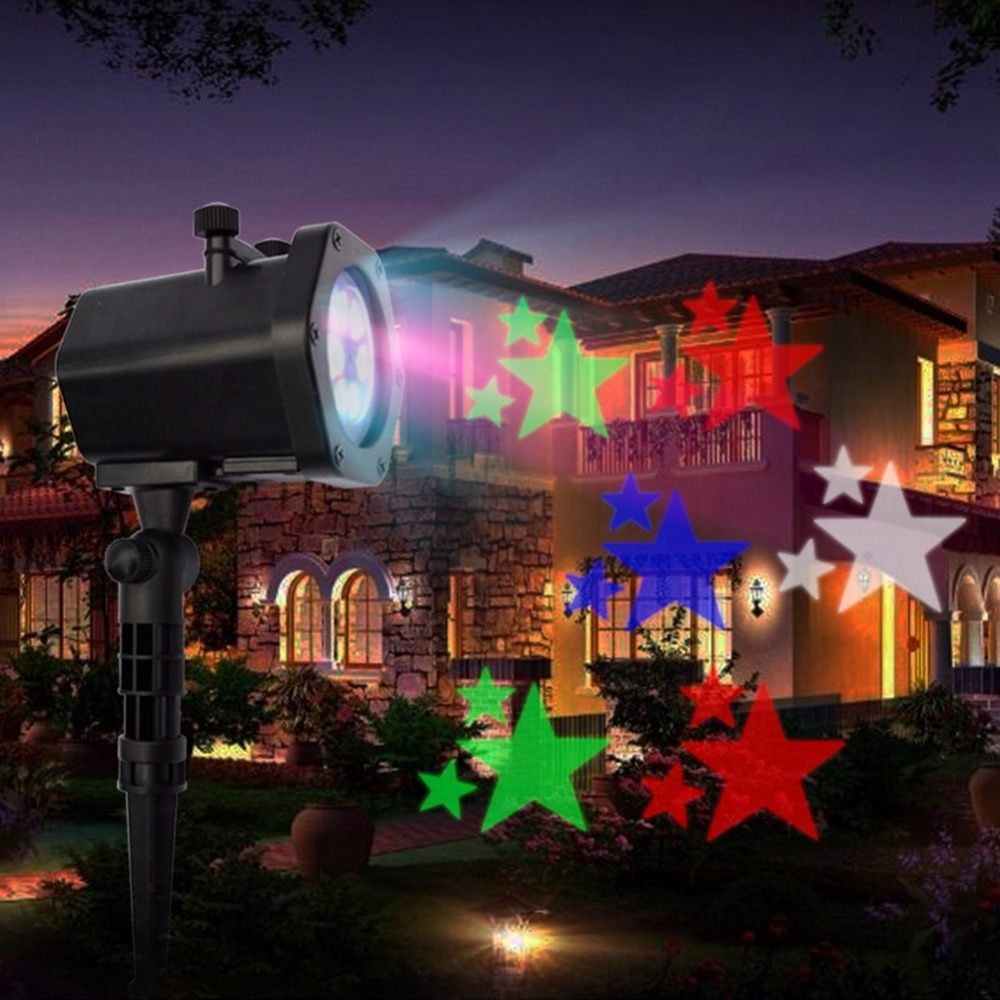 christmas led projector lamp landscape projection lamp halloween lights waterproof 12 patterns spotlight for holiday party in led lawn lamps from lights - Christmas Led Projector