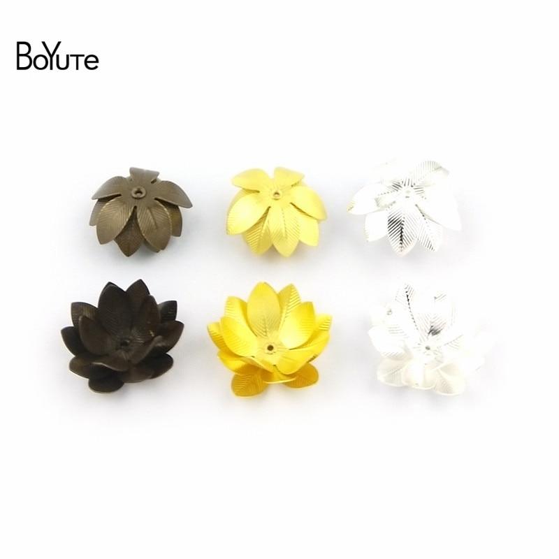 BoYuTe (10 PiecesLot) 26MM Silver Gold Bronze Metal Brass Filigree Flower Decoration (4)