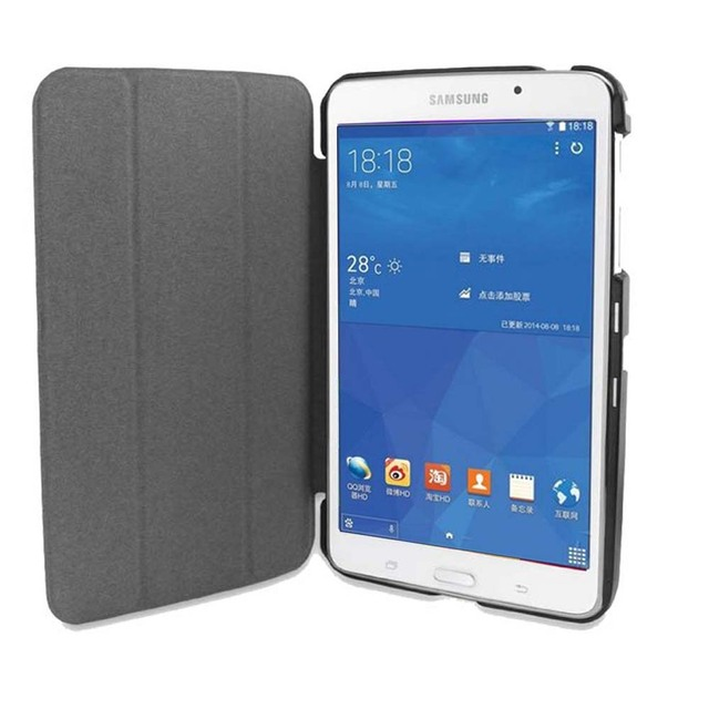 super popular 65342 f9db6 US $7.6 42% OFF|Tab 4 7.0 T230 T231 T235 T239 smart book cover case Ultra  Slim smart Cover for Samsung galaxy Tab 4 VE 7.0 magnet closure Case-in ...