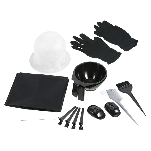 Complete Hair Dyeing Tools Set Salon Hair Coloring Mixing Bowls ...