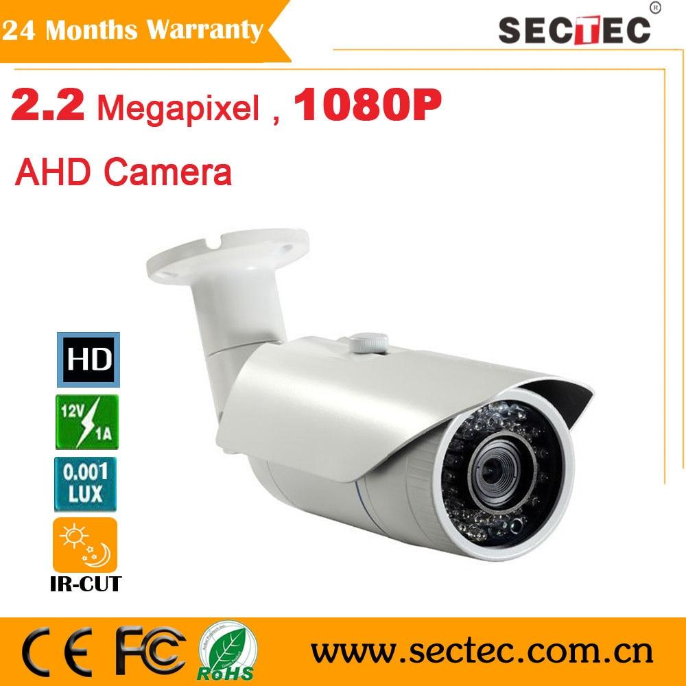 ФОТО 2.2M 1080P IP66 Waterproof IR Camera Megapixel CS 6 mm mount lens AHD camera 42pcs IR L ed HD camera CCTV camera system