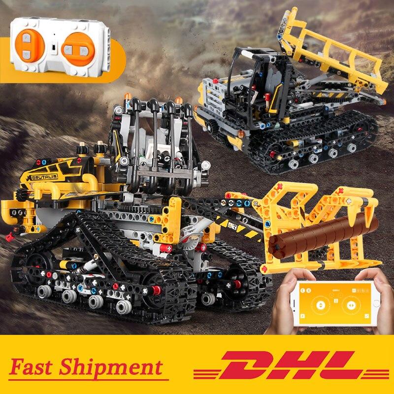 Neue Technik RC Bulldozer Motor Loader Kompatibel mit Legoings 42094 Verfolgt Loader Set Bausteine Ziegel Kinder Auto Spielzeug-in Sperren aus Spielzeug und Hobbys bei  Gruppe 1