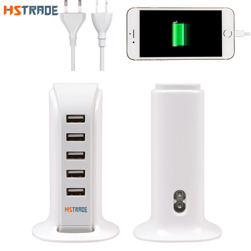 HSTRADE EU Plug 5 Ports Multiple Wall USB Charger 20W4A Smart Adapter Mobile Phone Charging Data