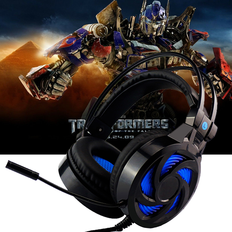 Sovawin Wired Gaming Headphone Microphone LED Light Stereo Surrounded USB 3.5mm Jack Over-Ear Headband Headset for Computer PC