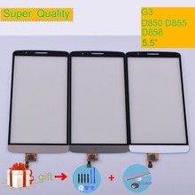 G3 For LG D850 D855 D858 Touch Screen Panel Sensor Digitizer Front Glass Outer Lens Touchscreen black white gold