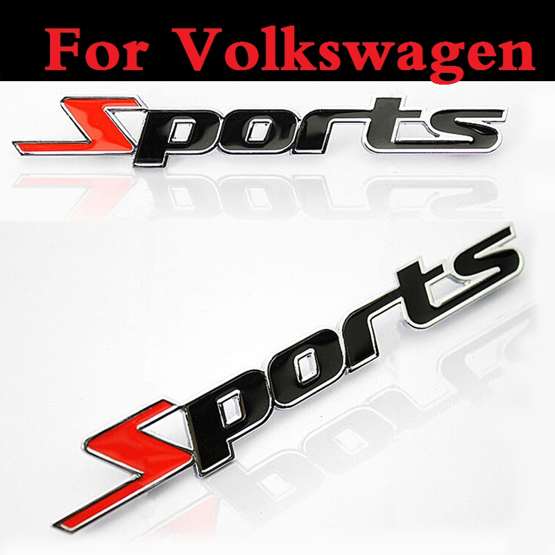 3D Sports Car Stickers Emblems Badge Decal Decor Decoration For Volkswagen Beetle Bora Eos Fox Golf GTI Golf Plus Golf R