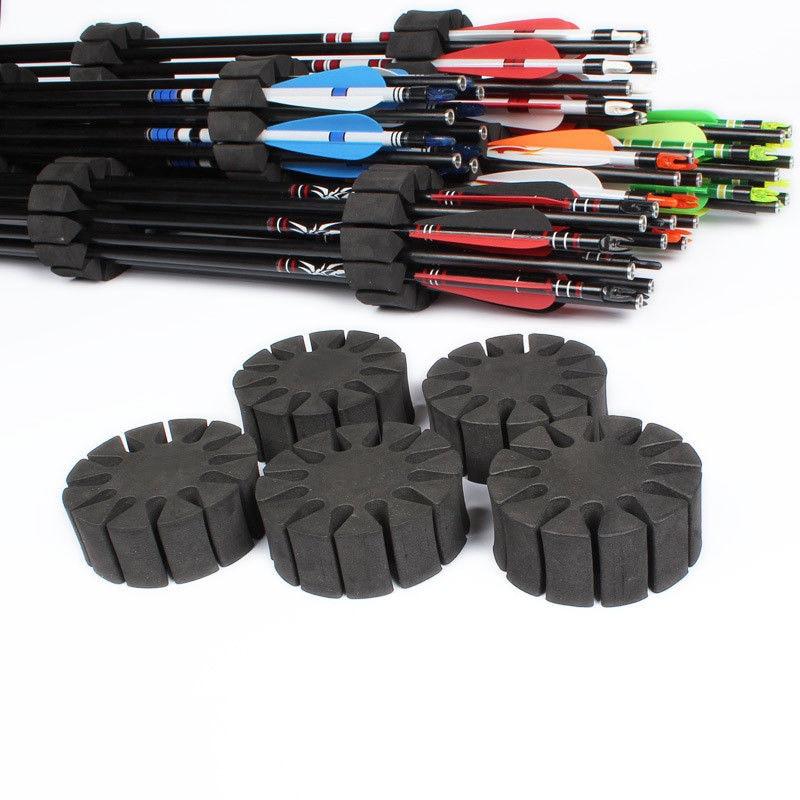 6PCS Archery EVA Foam Round Rack Arrow Holder 12 Arrows Suit Compound Recurve Bow Separator Quiver Hunting Pouch