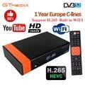 GTmedia V8 Nova Встроенный Wi-Fi DVB-S2 Freesat V9 Super H.265 спутниковый ТВ-приёмник PowerVu с европейскими 7 линиями на 1 год