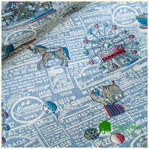 100*150 cm impreso vela de coser de algodón de cáñamo tela de tapicería sofá tel