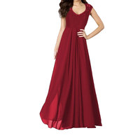 أعلى بيع المرأة أكمام الطابق طول الرباط الجوف خارج عارية الذراعين العميق الخامس الرقبة فستان ماكسي