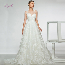 Liyuke A Line Floor Length Wedding Dress 2019 Court Train