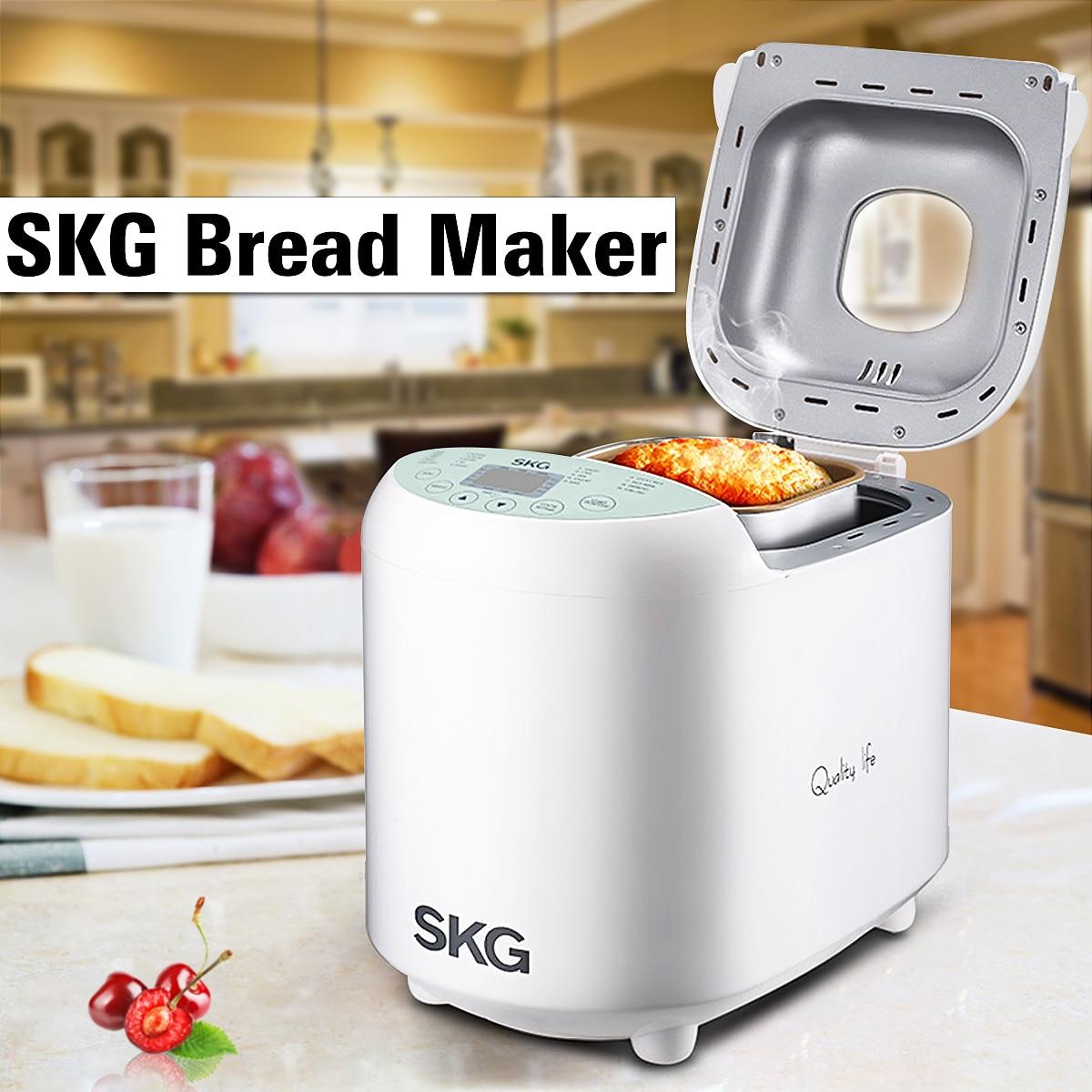 SKG 110 v Automatique Machine À Pain Maker Avec Recettes Antiadhésive Enduit 2LB Débutant Amical 19 Programmable Minuterie Intelligente