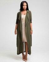 2017New Autumn Soft Women Chiffon Blouse Long Length Solid Open Blouse Casual Female Large Size Shirt