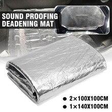 140x100cm Car Hood Engine Firewall Heat Retardant Mat Deadener Sound Insulation Deadening Aluminum Material Foil Sticker