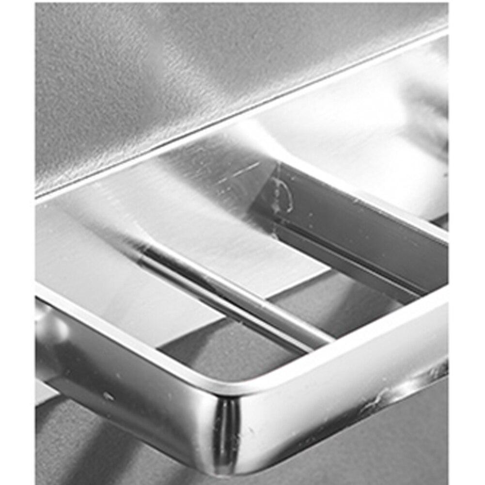 Praktisch Geen Boren Kapper Opslag Föhn Houder Roestvrij Ruimtebesparend Rack Stabiele Badkamer Thuis Wall Mount Aluminium Esthetisch Uiterlijk