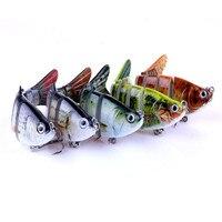 5 Unids Anzuelos de Pesca Realista FishingLures Multijointed 6-segement Lucio Pesca Con Señuelos Pescado Falso Cebo Fishs Plomo Jig M25