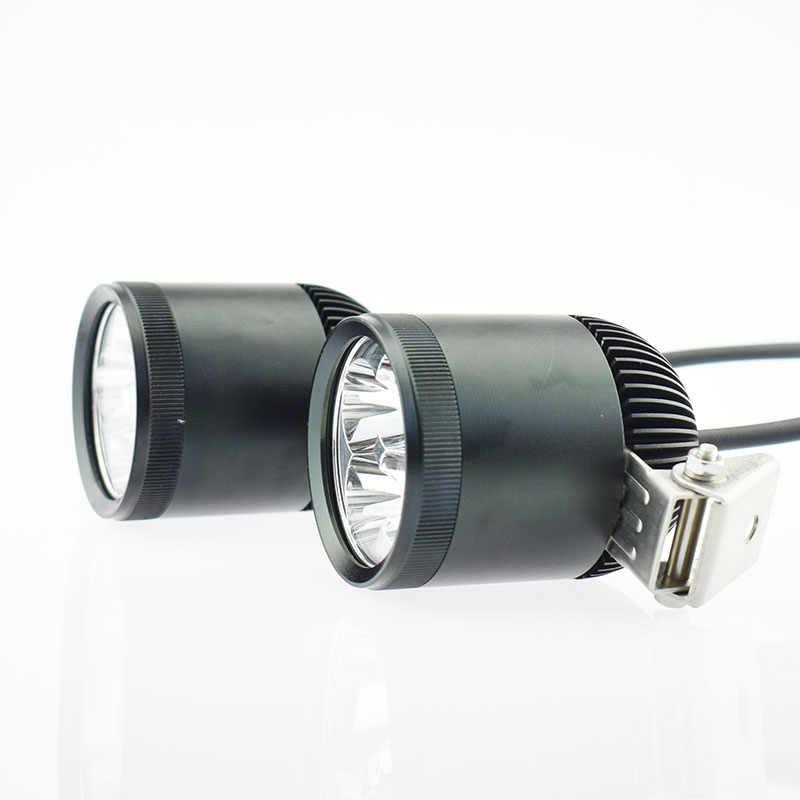 2Pcs Motorcycle Headlight 12V 40W 4800LM U2 LED Chip Lights Super Bright Motorcycle Driving Waterproof  Fog Lamp Spot Headlamp