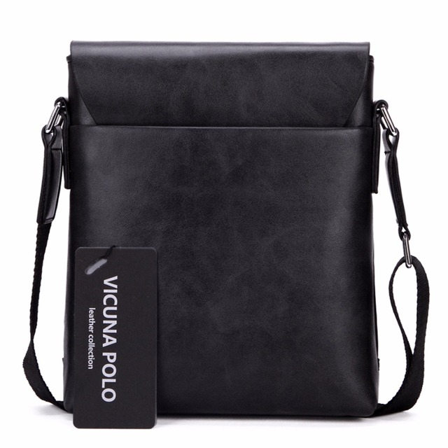 Unique Thread Design Mens Frosted PU Leather Messenger Bag Small Leisure Mens Bag Promotional Men Shoulder Bag 4