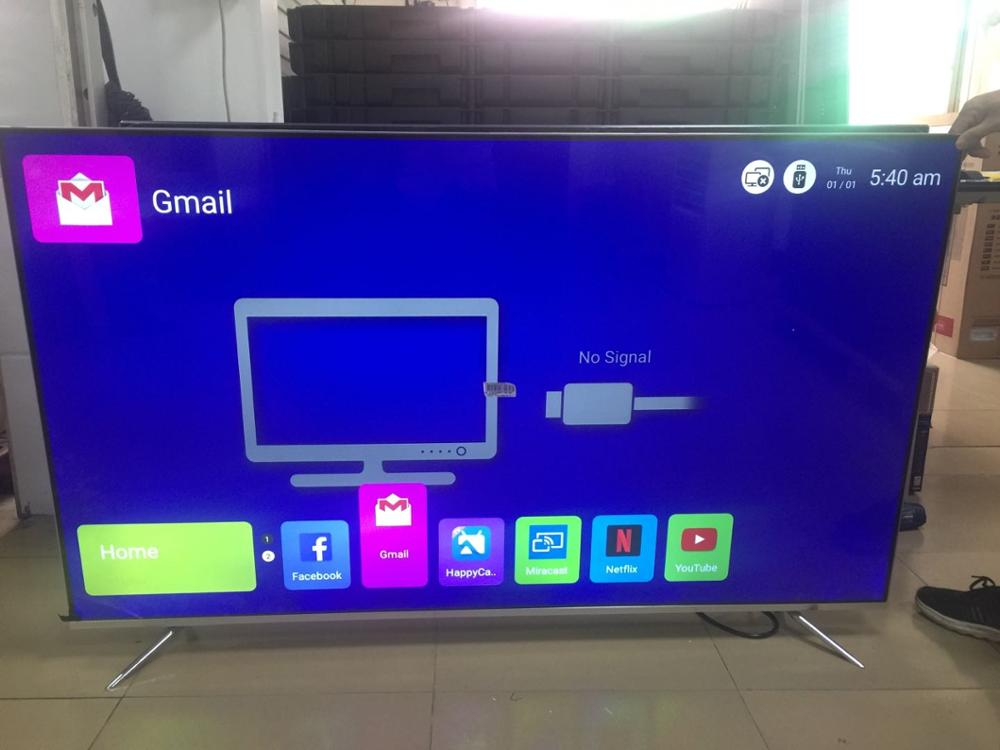 Android OS quard core 65 inch led tv 4k smart led television TV image