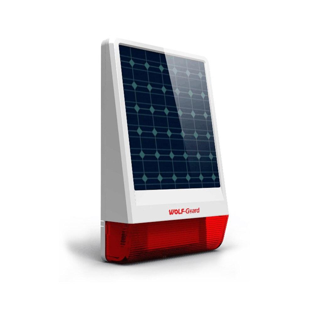 Wireless Outdoor Weather-Proof Solar Siren Simple Security Alarm Burglar System 2 SOS Button 2 Remote Controller Set A