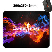 Customized Anti-Slip Rectangle Print Counter Strike CS GO Gaming Mouse Pad  Supported As Gift 220mmx180mmx2mm and 250x290x2mm