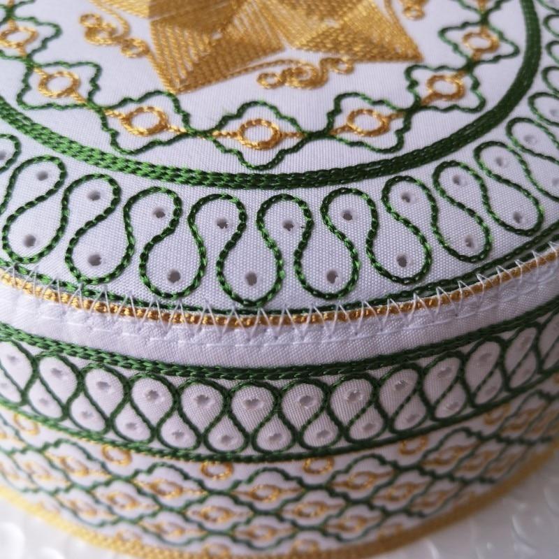 Image 3 - Men Islam Prayer Hats High Quality Embroidered Caps Islamic Kufi  Topi Kippot Kippa Muslim Turkish Namaz Egyptian Mens Head HatsIslamic  Clothing