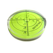 Universal 60x12mm Circular Bubble Level Green Bullseye Spirit Round Measuring Instruments Tool New Arrivals